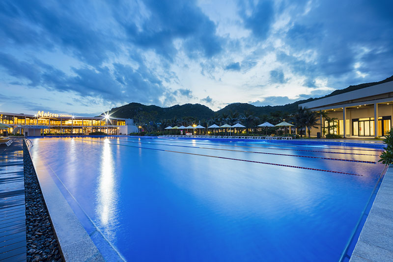 Khu du lịch ở Long Hải - bể bơi Oceanami